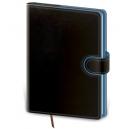 Diář denní A5 Flip - černo/modrá