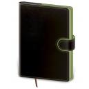 Diář denní A5 Flip - černo/zelená