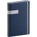 Denní diář A5 Twill -  modrostříbrný